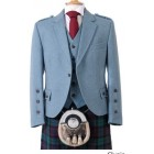 Clunie Jacket and 5 Button Vest - Lovat