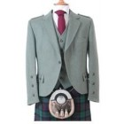 Clunie Jacket and 5 Button Vest - Moss